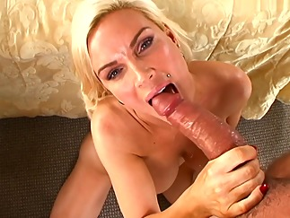 handjob big tits blonde